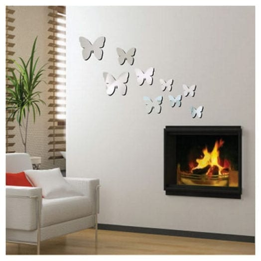 Butterfly week mirror mirror on the wall love chic living for Mirror stickers
