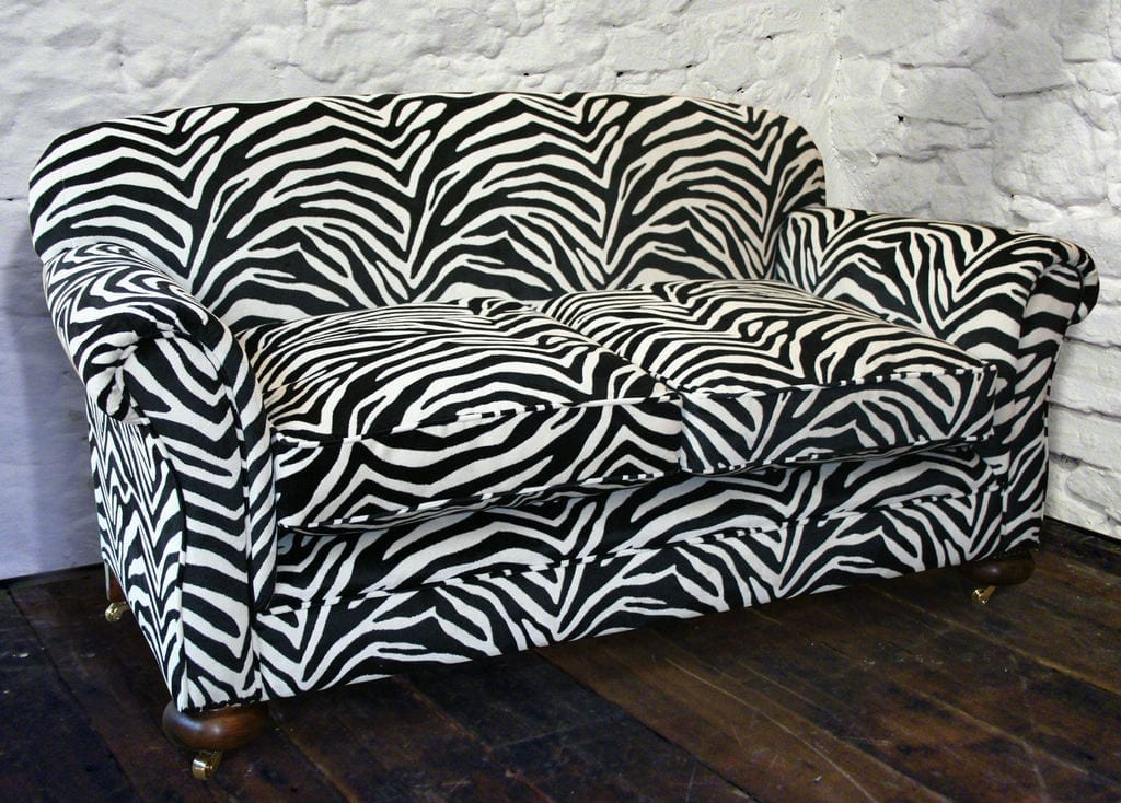 Design divas heather maskill from a little furniture shop for Zebra sectional sofa