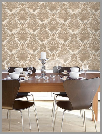 Wallpaper Wednesday Farrow and Ball Lotus Gorgeousness  : 1 lotus 2 from lovechicliving.co.uk size 416 x 544 jpeg 123kB