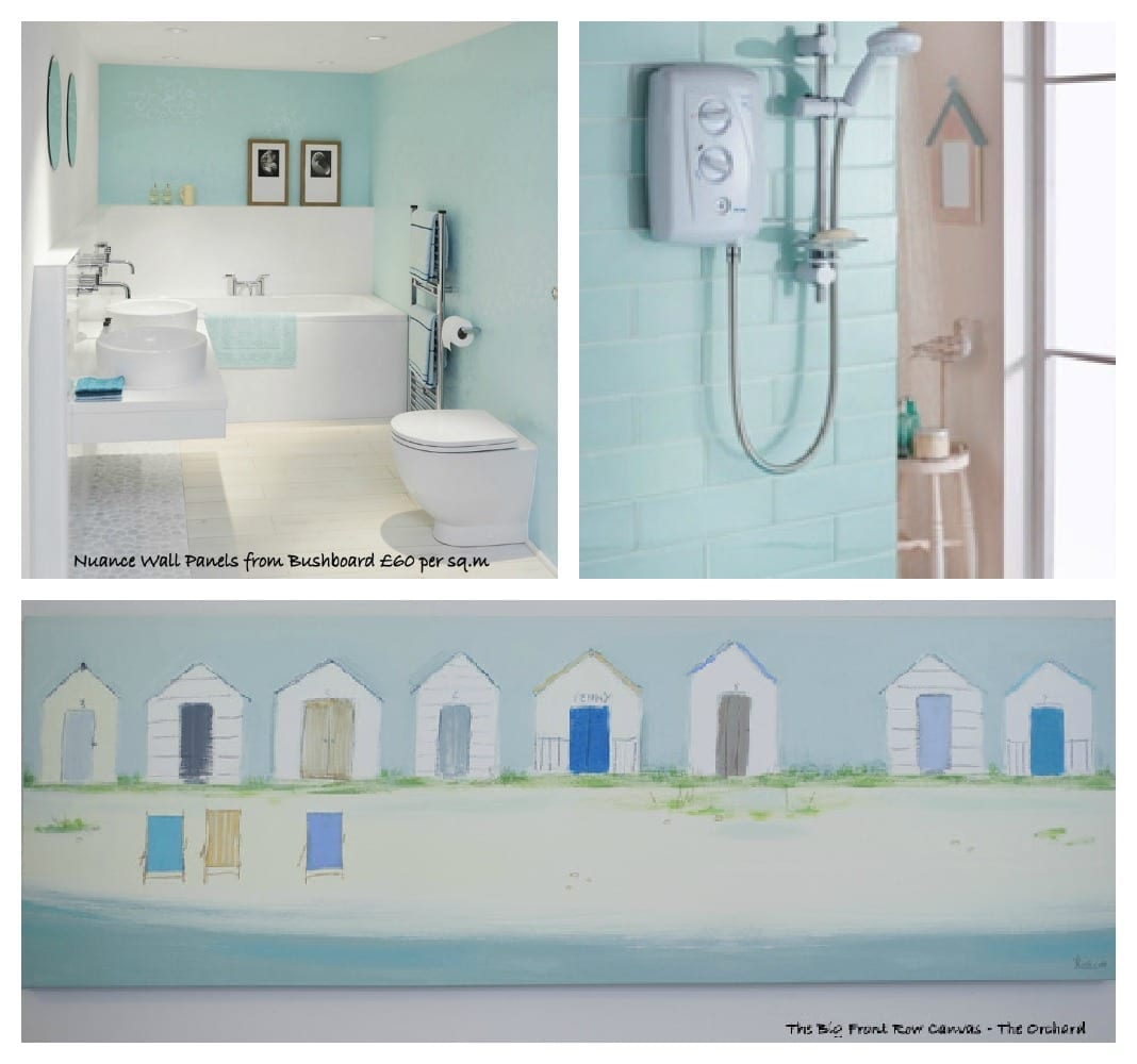 How to create a modern coastal theme for a contemporary for Bathroom decor uk