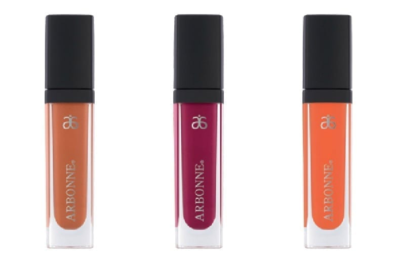 Brown sugar, raisin, coral lip gloss from Arbonne