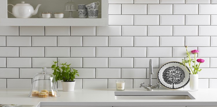 Top 5 ways to add tile style to your home love chic living - White brick tiles black grout ...