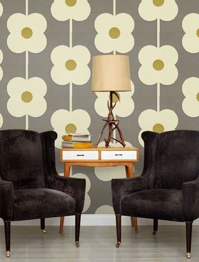 wallpaper wednesday orla kiely new collection love chic living. Black Bedroom Furniture Sets. Home Design Ideas