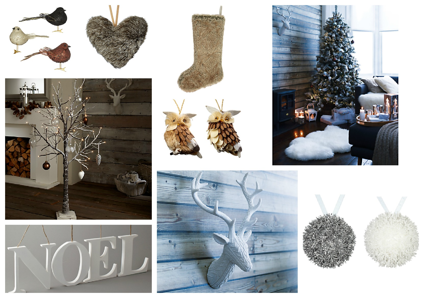 Moodboard monday christmas decorations love chic living for Modern christmas decorations online
