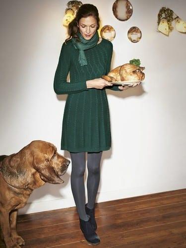winter woollen dress