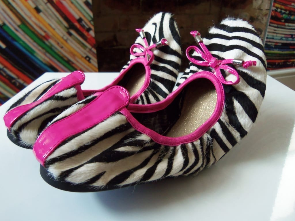 animal print ballerina shoes