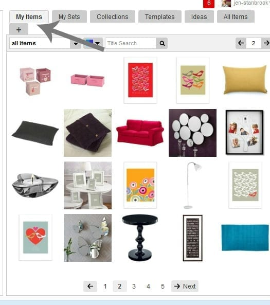 adding polyvore items
