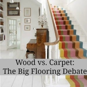 Wood versus carpet the big flooring debate love chic living for Pros and cons of hiring an interior designer