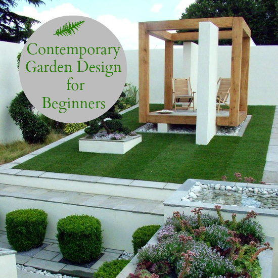 Contemporary garden design for beginners love chic living Modern front garden ideas uk