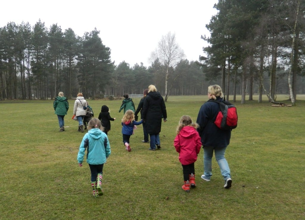 family forest fun in Sherwood Pines