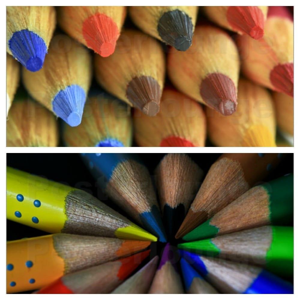 pencil crayon wall posters