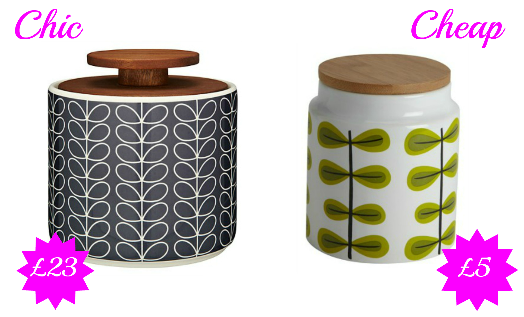 Chic Vs Cheap Retro Storage Jars Love Chic Living