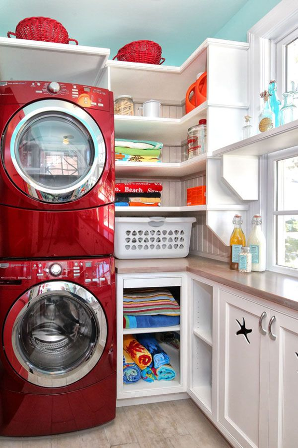 bright and colourful utility room