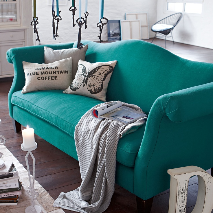 How to integrate a colourful sofa into your room scheme - Tapices para sofas ...