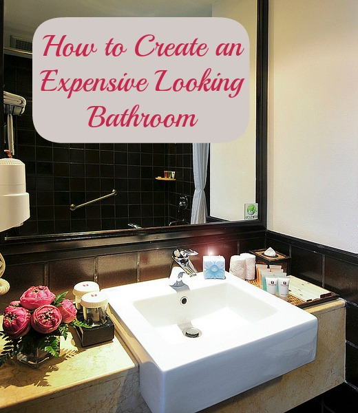 make your bathroom look more expensive