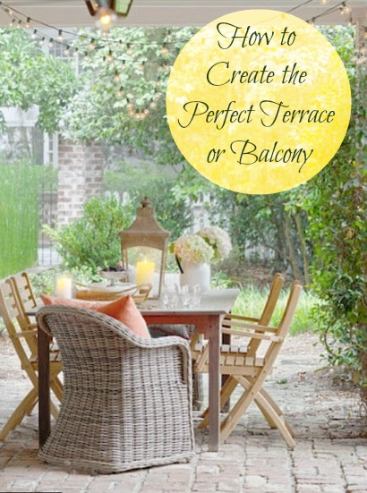 decorating ideas for a balcony or terrace