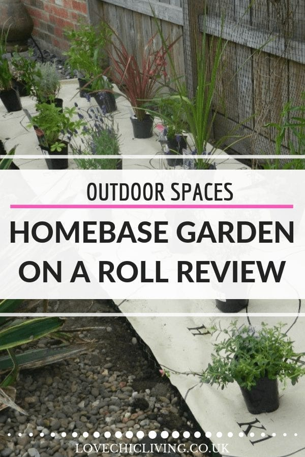 Check out exactly what we thought of the Homebase garden on a roll in this honest and detailed review #gardenonaroll #homebase #lovechicliving