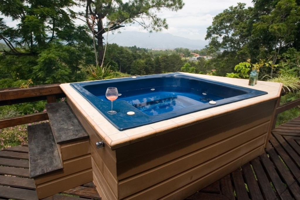 Incorporating a hot tub into a small but luxurious space for Small hot tubs for small spaces