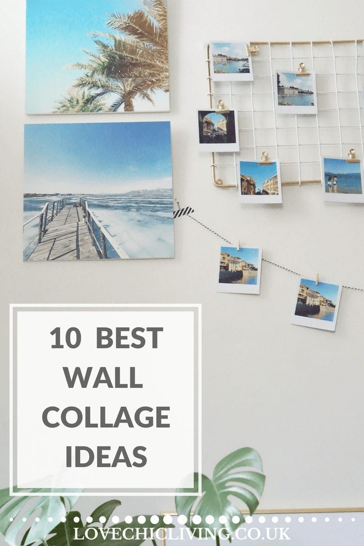 10 great ways to create interesting and unusual wall collages, wall displays and wall galleries in any part of your home.