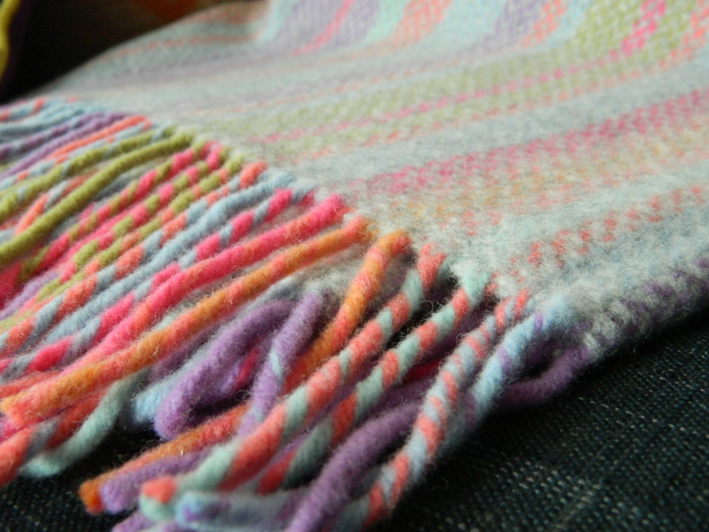 Gorgeous wool throw from Deckchair stripes