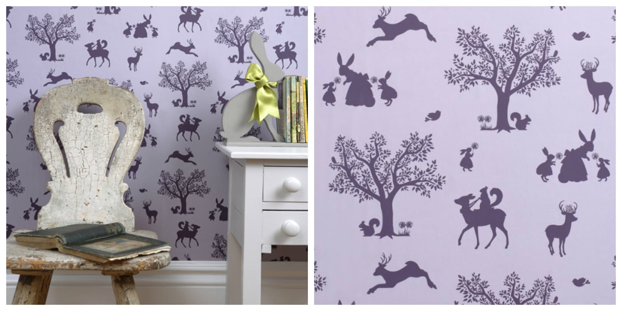Stylish kids wallpaper from hibou home love chic living for Stylish wallpaper for home