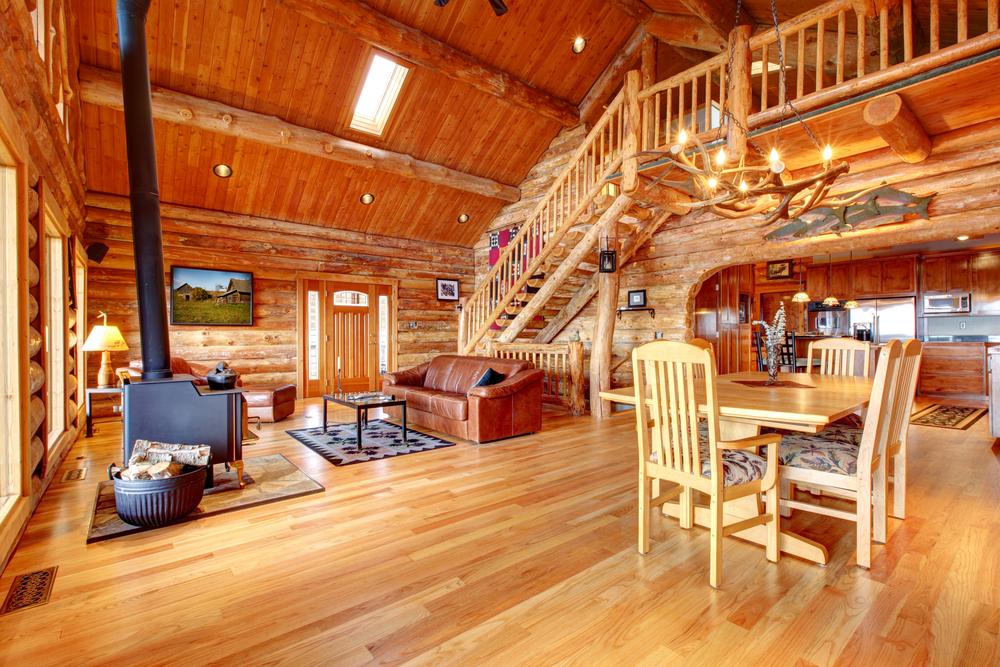 double wood interior design