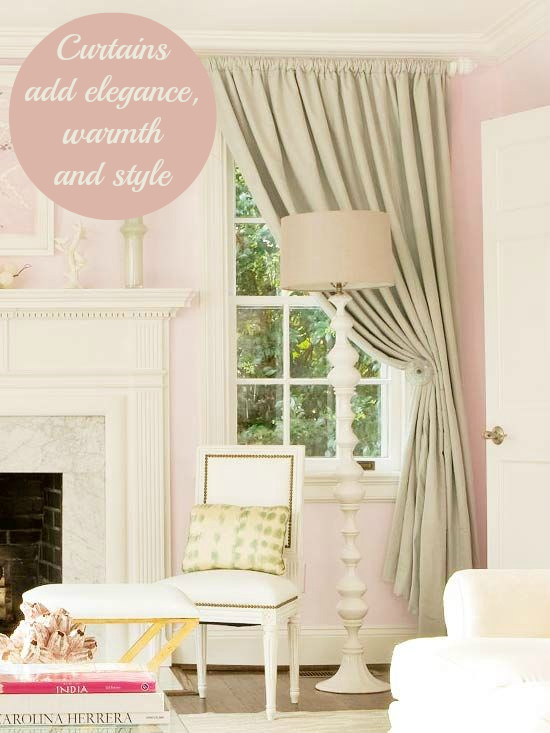 Curtains add elgance to a room