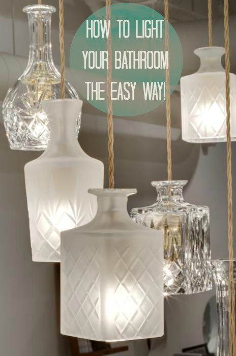 Great ideas on the best way to light a bathroom