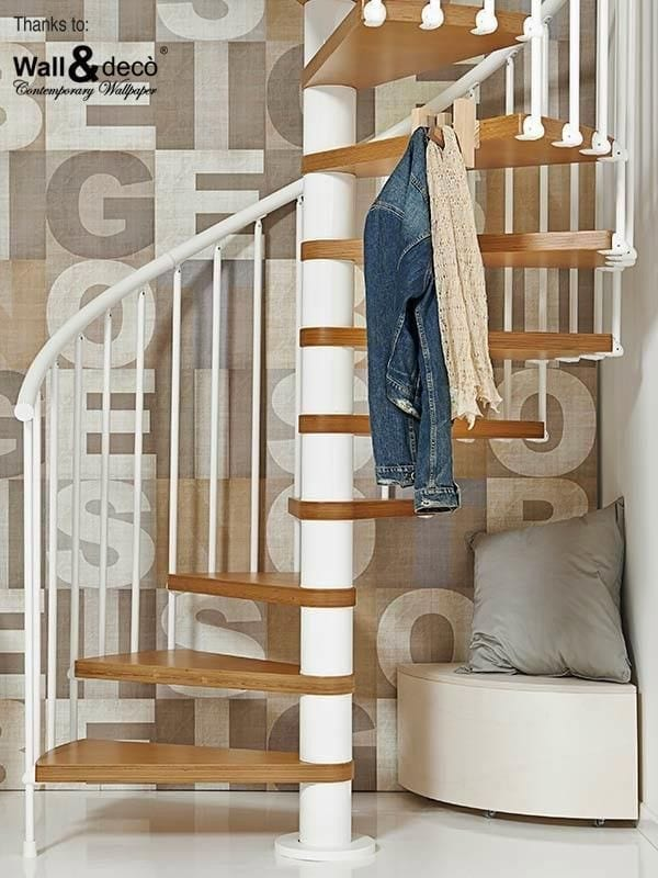 Chic showcase spiral staircases for maximum impact love for Tv showcase designs under staircase