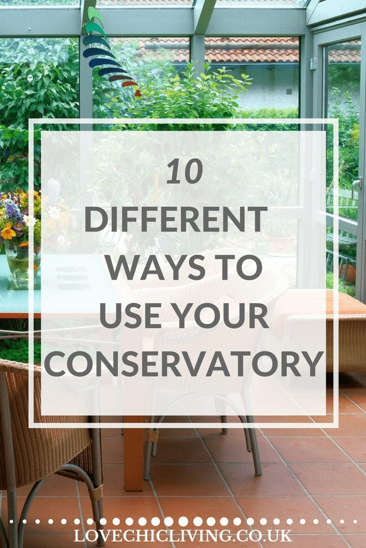 Got a conservatory and not sure how to use it properly. Here is a great list of 10 different ways to put your conservatory to really good use, from a dining room, to playroom to den and so much more. Which one could work in your home?