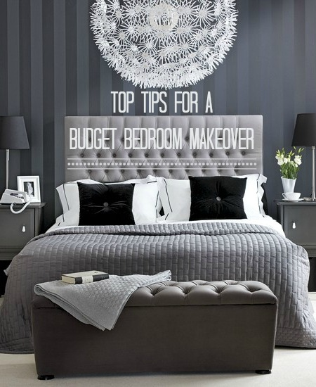 Decorate your bedroom for under 300 in a weekend love chic living - How to decorate your bedroom on a budget ...