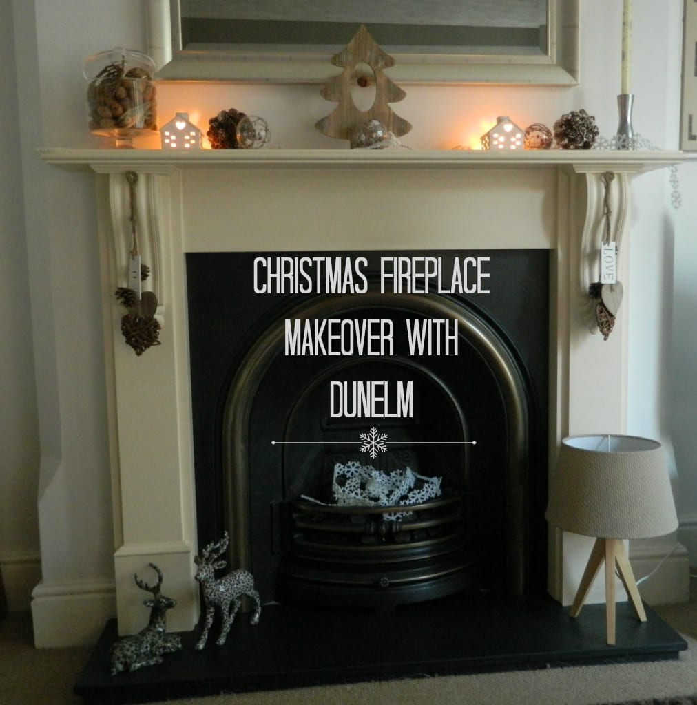 Christmas Home Fireplace Christmas Decorations with  : Fireplace makeover from lovechicliving.co.uk size 1012 x 1024 jpeg 520kB