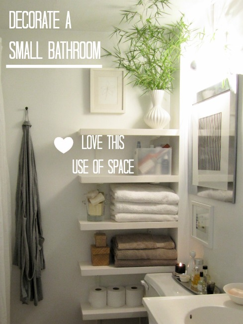 How to decorate a small downstairs toilet love chic living - Bathroom shelving ideas for small spaces photos ...