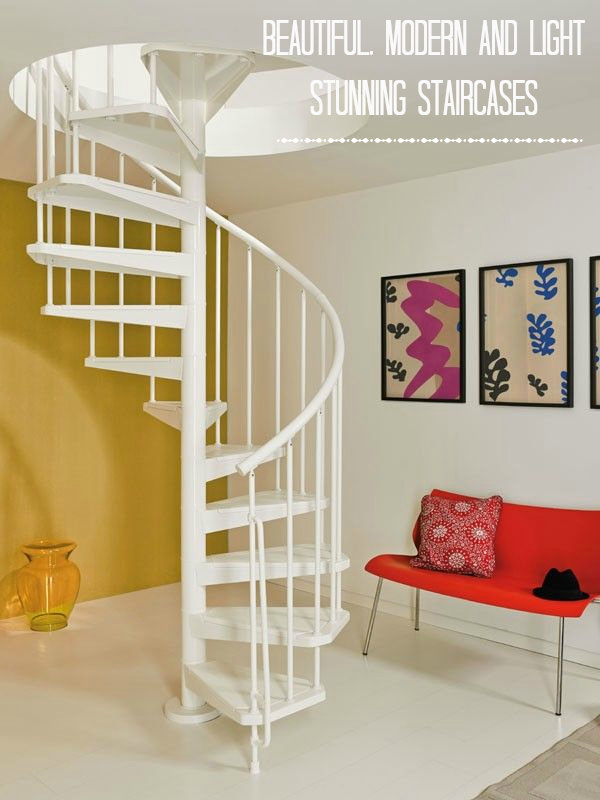 Stunning spiral staircases create a focal point in your home