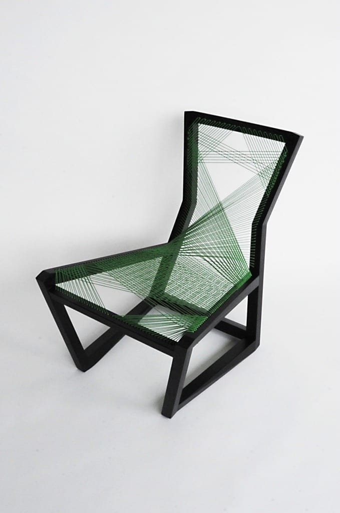 Woven Easy Chair by Alexander Mueller