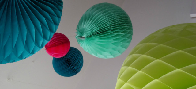 Honeycomb Paper Balls from Scarlett Willow