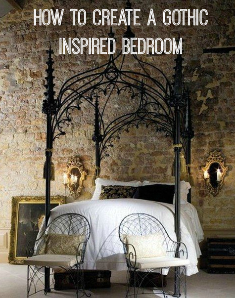 How to create a gothic bedroom