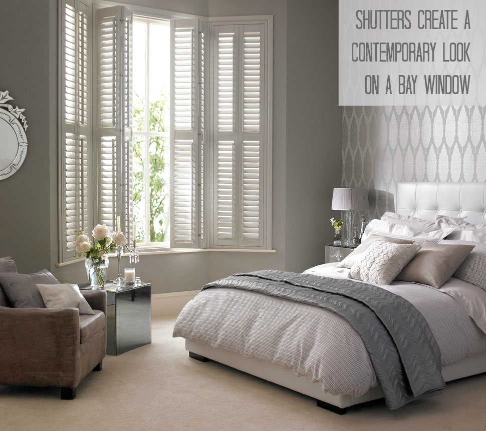 3 ways with contemporary window blinds love chic living - Bay window bedroom ideas ...