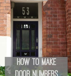 DIY Home: Front Door Styling with the Cricut Explore
