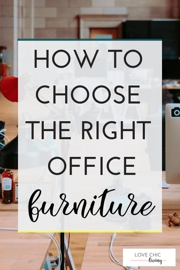 Top tips for choosing new office furniture when you're renovating your home or business office space. Choose the right desk, office chair and more. Learn what to consider in this great article #officefurniture #officedesk #officechair #lovechicliving