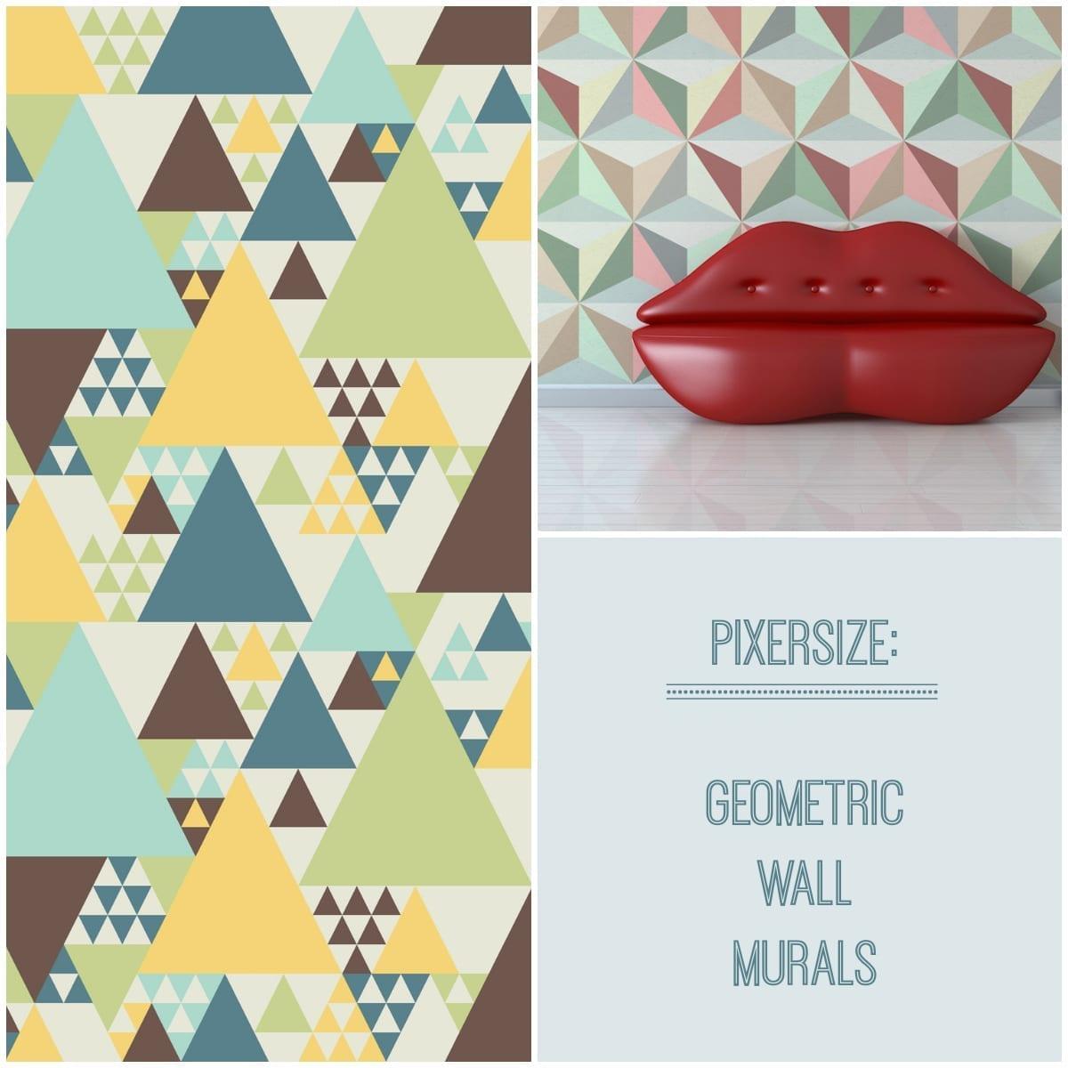 pixers geometric wall murals love chic living