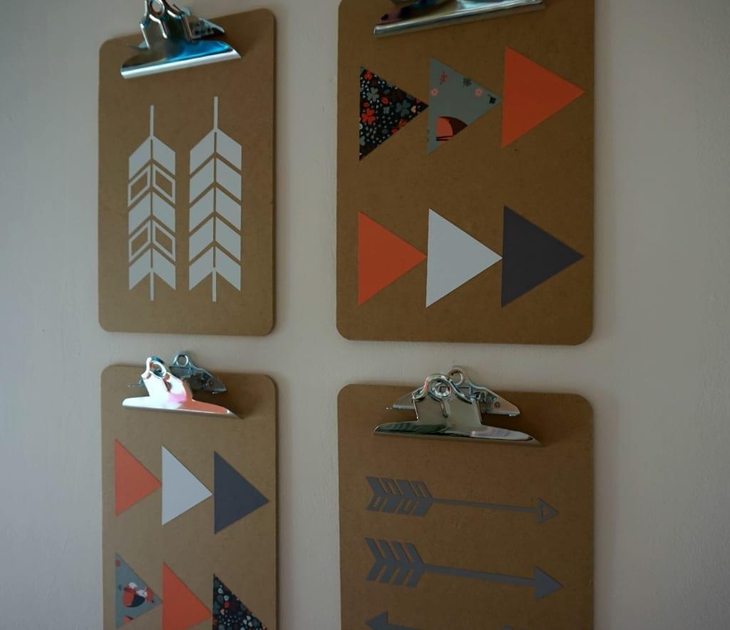 Clipboard Wall Art : Diy home decorative clipboard wall art with the cricut
