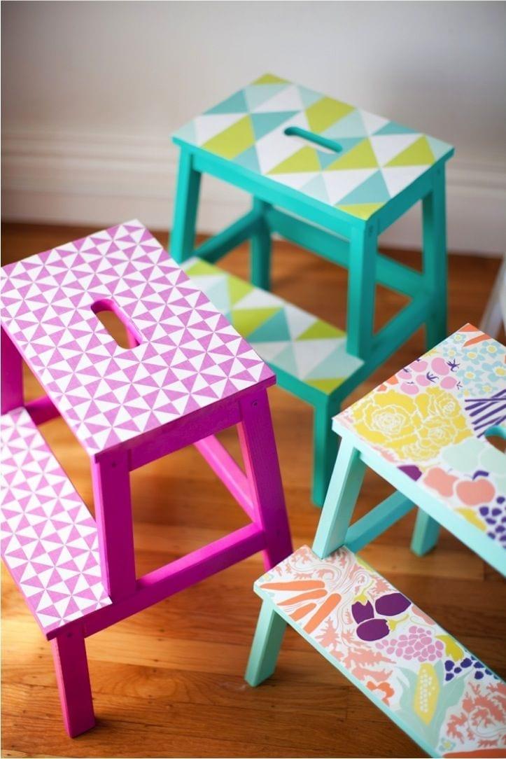colourful stools