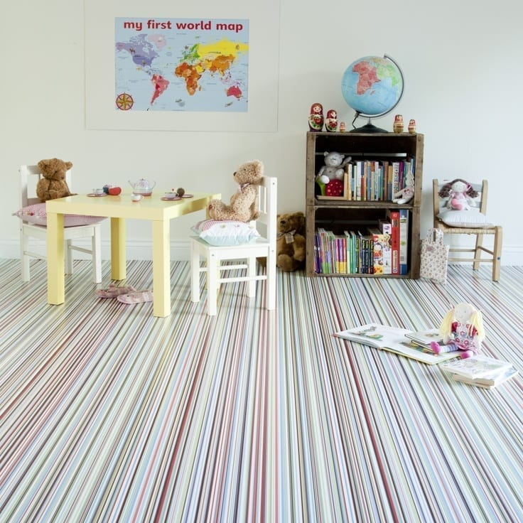 Trends in patterned flooring love chic living for Flooring for child s bedroom