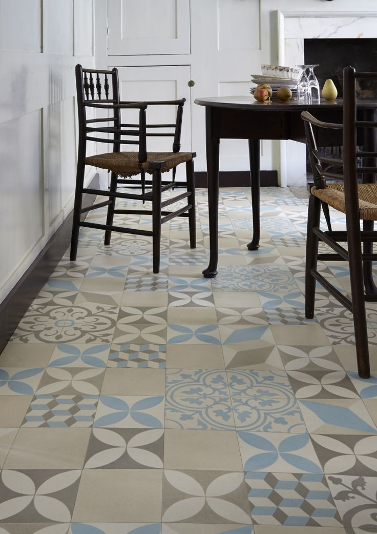 trends in patterned flooring love chic living On patterned vinyl flooring