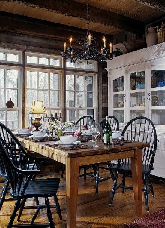 rustic dining