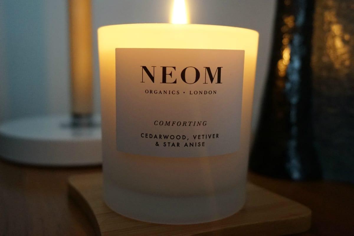 Lit Neom Candle