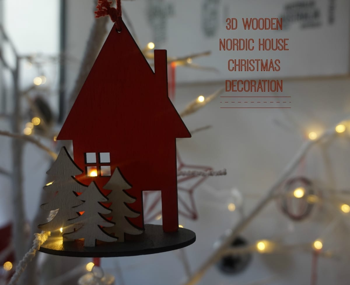 3d wooden house decoration