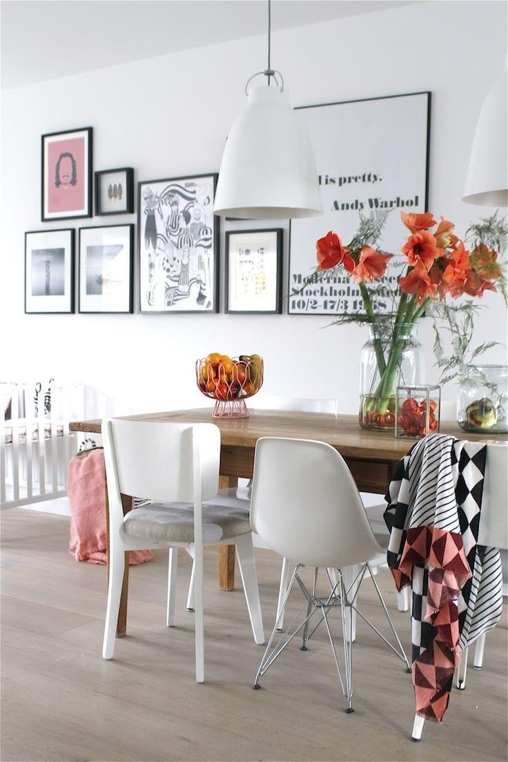 Scandinavian home wall collage