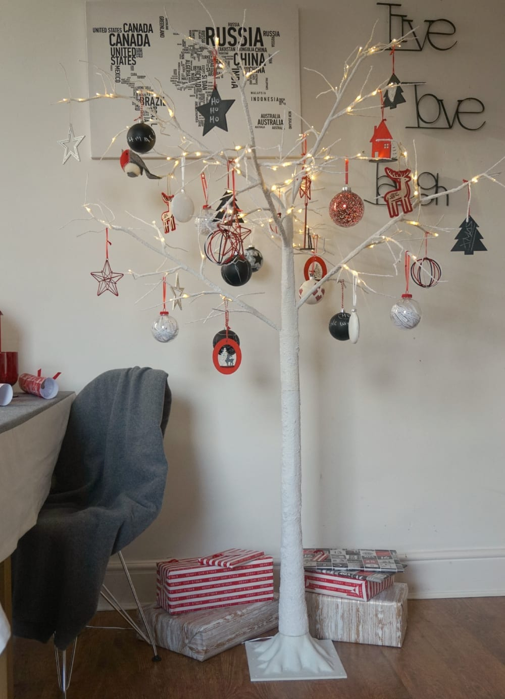 Modern alternatives to a traditional christmas tree love for Tree twigs decoration